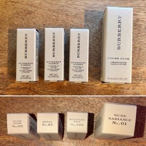 Burberry Makeup - BURBERRY Beauty Bundle Lot x4 Lipsticks + Primer